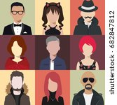 person avatars people heads... | Shutterstock .eps vector #682847812