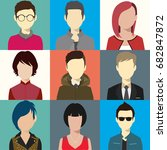 person avatars people heads... | Shutterstock .eps vector #682847872