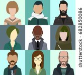 person avatars people heads...   Shutterstock .eps vector #682850086