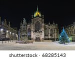 Facade Of St Giles Cathedral ...