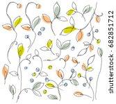 abstract plants illustration  | Shutterstock .eps vector #682851712