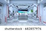 3d cg rendering of the control... | Shutterstock . vector #682857976