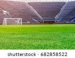 stadium football | Shutterstock . vector #682858522