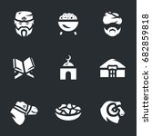 Nauryz Holiday Icons.