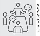 business meeting concept | Shutterstock .eps vector #682863562