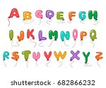 Large Alphabet Balloon Cartoon...