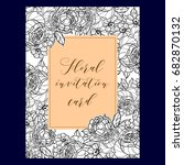 invitation with floral...   Shutterstock . vector #682870132