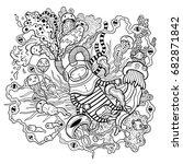 fantasy vector illustration... | Shutterstock .eps vector #682871842