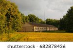 a long one storey house on the... | Shutterstock . vector #682878436