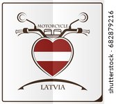 motorcycle logo made from the... | Shutterstock .eps vector #682879216