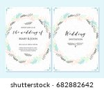 wedding invitation  thank you... | Shutterstock .eps vector #682882642
