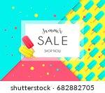 summer sale background layout... | Shutterstock .eps vector #682882705