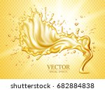 splashing clear liquid with... | Shutterstock .eps vector #682884838