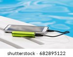 smartphone connected to the... | Shutterstock . vector #682895122