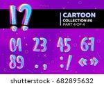 children's comic vector font in ... | Shutterstock .eps vector #682895632
