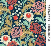 seamless colorful floral... | Shutterstock .eps vector #682896592