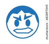 emoji of angry face  hand drawn ...