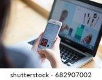 bangkok. thailand   july 20 ... | Shutterstock . vector #682907002