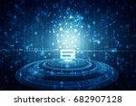 bulb future technology ... | Shutterstock . vector #682907128