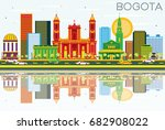 bogota colombia skyline with... | Shutterstock .eps vector #682908022