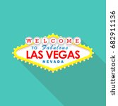 Stock vector classic retro welcome to las vegas sign vector illustration 682911136