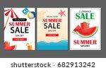 summer sale emails background... | Shutterstock .eps vector #682913242