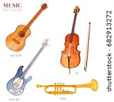 music object collection ... | Shutterstock . vector #682913272
