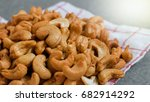 close up cashews nuts  | Shutterstock . vector #682914292