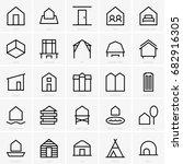 residential icons | Shutterstock .eps vector #682916305