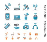 wireless and communication... | Shutterstock .eps vector #68291845