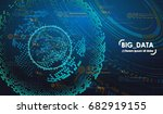 big data abstract visualization.... | Shutterstock .eps vector #682919155