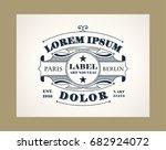 vintage elegant line art logo ... | Shutterstock .eps vector #682924072