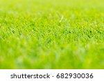 perfect green soccer pitch... | Shutterstock . vector #682930036