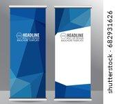 blue roll up business brochure...   Shutterstock .eps vector #682931626