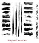 grungy brush strokes set over... | Shutterstock .eps vector #682933642