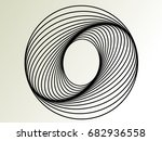 lines in circle form . spiral... | Shutterstock .eps vector #682936558