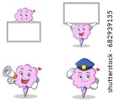 cotton candy character set with ... | Shutterstock .eps vector #682939135
