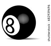 black billiard ball eight.... | Shutterstock . vector #682939696