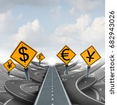 currency strategy path and...   Shutterstock . vector #682943026
