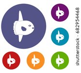 small fish icons set in flat... | Shutterstock .eps vector #682954468