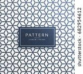 geometric pattern lines vector... | Shutterstock .eps vector #682954612