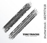 Wheel Tire Tracks Background...