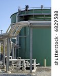 Industrial Waste and Storm Water Treatment Plant - stock photo