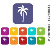 palm tree icons set vector... | Shutterstock .eps vector #682958866