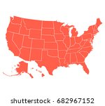 political map of usa  united... | Shutterstock .eps vector #682967152