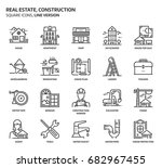 real estate and construction ... | Shutterstock .eps vector #682967455