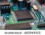computer chip close up. hi tech ... | Shutterstock . vector #682969315