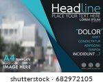blue flyer cover business... | Shutterstock .eps vector #682972105
