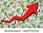 growing arrow with euro money... | Shutterstock . vector #682972252