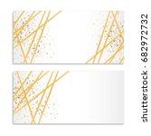 gold streamers sparkles... | Shutterstock .eps vector #682972732